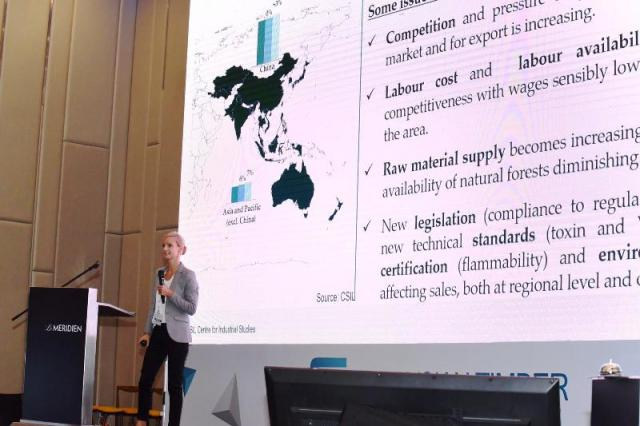 CSIL expert Sylvia Weichenberger at Malaysian Timber Conference