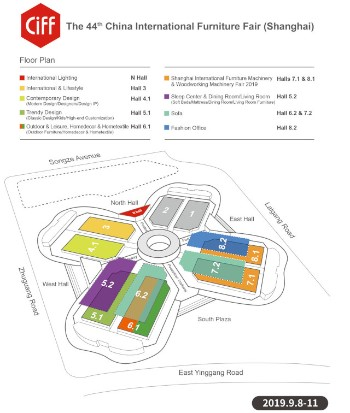 CIFF september 2019 exhibition map