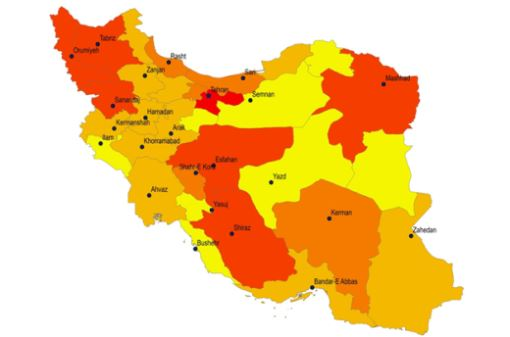 Iran furniture consumption by province